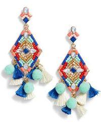 Rebecca Minkoff - Tassel & Pompom Statement Earrings - Lyst