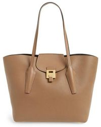 Michael Kors - Large Bancroft Leather Tote - Lyst