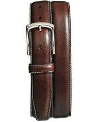Torino Leather Company - Burnished Leather Belt - Lyst