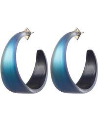 Alexis Bittar - Wide Graduated Medium Hoop Earrings - Lyst