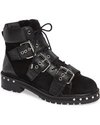 TOPSHOP - Wide Fit Animal Hiker Boots - Lyst
