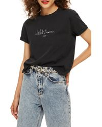 888f128efa9 Lyst - TOPSHOP Skyline Graphic Tee in White - Save 55%