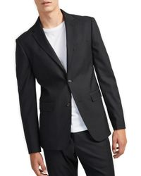 French Connection - Micro Houndstooth Stretch Slim Fit Sport Coat - Lyst