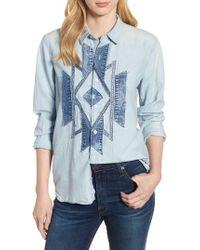 Lucky Brand - Lucky Southwestern Patch Shirt - Lyst