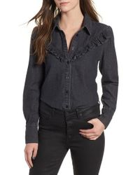 The Fifth Label - Subject Ruffle Denim Shirt - Lyst