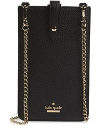 Kate Spade - Pebbled Leather Phone Crossbody Bag - - Lyst