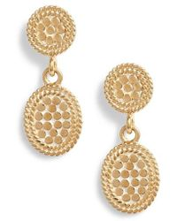 Anna Beck - Gold Double Drop Oval Stud Earrings - Lyst