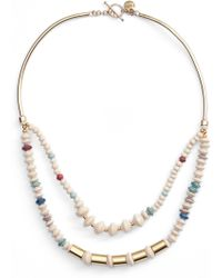 31 Bits - Goldsweep Paper Bead Necklace - Lyst