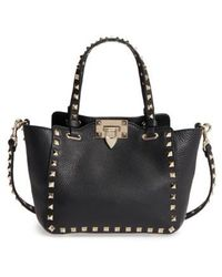 Valentino - Rockstud - Mini Alce Leather Tote - Lyst
