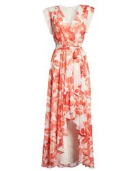 Eliza J - Surplice Obi High/low Dress - Lyst