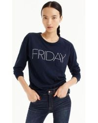 J.Crew | J.crew Friday Long Sleeve Tee | Lyst