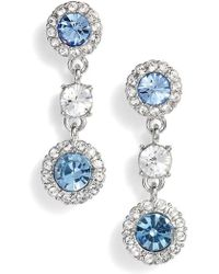 Givenchy - Swarovski Crystal Triple Drop Earrings - Lyst