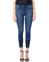Liverpool Jeans Company - Abby Ankle Embroidery Release Hem Jeans - Lyst