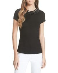 Ted Baker - Nickita Imitation Pearl Neck Top - Lyst