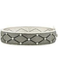 Freida Rothman - Industrial Finish Textured Crystal Bracelet - Lyst