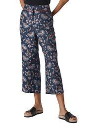 Whistles - Pitti Silk Crop Pants - Lyst