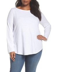 Eileen Fisher - Long Sleeve Organic Cotton Tee - Lyst