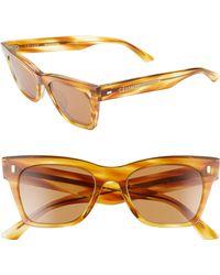 ad6fe7e58ddf Lyst - Jimmy Choo  cindy  57mm Retro Sunglasses - Honey in Natural