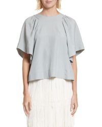 Rachel Comey - 'ravine' Bell Sleeve Silk & Linen Top - Lyst