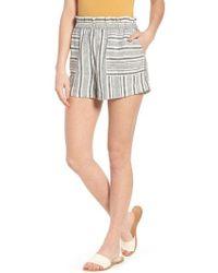 BP. - Stripe Linen Blend Shorts - Lyst
