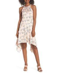 Maggy London - Printed Handkerchief Hem Dress - Lyst