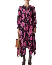 Whistles - Ari Hibiscus Print Belted Dress - Lyst
