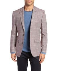 Ted Baker - Jay Trim Fit Tattersall Wool & Linen Sport Coat - Lyst