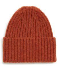 Lyst - Drake S Rib-knit Merino Wool Beanie in Blue for Men 431b43ff46d4