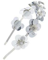 Cara - Flower Embellished Headband - Lyst