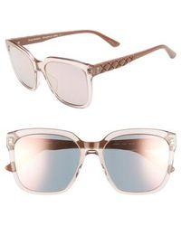 Juicy Couture - Core 55mm Square Sunglasses - Dark Havana - Lyst