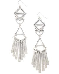 Adia Kibur - Geometric Drop Earrings - Lyst
