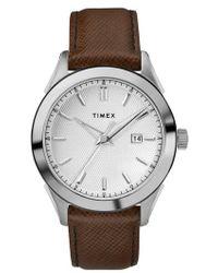 Timex - Timex Torrington Leather Strap Watch - Lyst