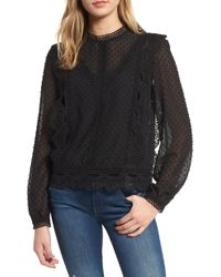Endless Rose - Dotted Chiffon Blouse - Lyst