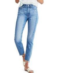 Madewell - Perfect Summer High Waist Pieced Jeans - Lyst
