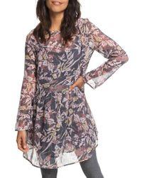Roxy - Amazing Wave Print Dress - Lyst