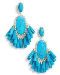 Kendra Scott - Cristina Stone Tassel Earrings - Lyst
