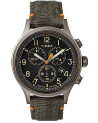 Timex - Timex Allied Chronograph Canvas Strap Watch - Lyst