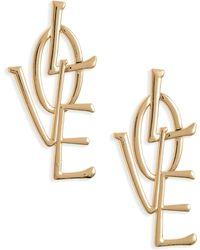 Mad Jewels - Love Earrings - Lyst