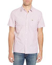 Lacoste - Regular Fit Seersucker Sport Shirt - Lyst