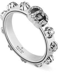 cc8c4c524 Gucci GG Running Yellow Gold Chevalier Ring in Yellow - Lyst