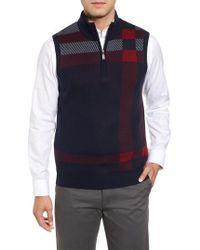Bobby Jones - Oversize Plaid Wool Vest - Lyst