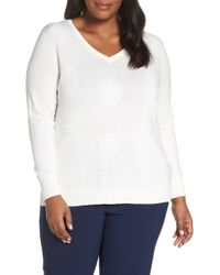 Sejour - Dot Pattern Pullover - Lyst