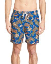 02b30899aa Tommy Bahama Naples 3 Palm Night Jacquard 6-inch Swim Trunks in Blue ...
