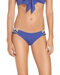 Becca - Delilah Crochet Hipster Bikini Bottoms - Lyst