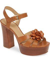 8765e5f88f MICHAEL Michael Kors - Dalia Flower Platform Sandal - Lyst