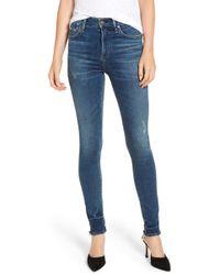 Citizens of Humanity - Rocket High Waist Raw Release Hem Skinny Jeans - Lyst