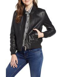 Hudson Jeans - Leather Bomber Jacket - Lyst