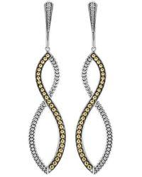 Lagos - Infinity Twist Drop Earrings - Lyst