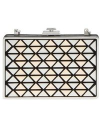 Vince Camuto - Fit Metal & Suede Minaudiere - Lyst