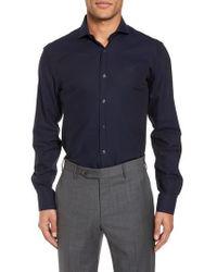 Duchamp - Trim Fit Solid Dress Shirt - Lyst